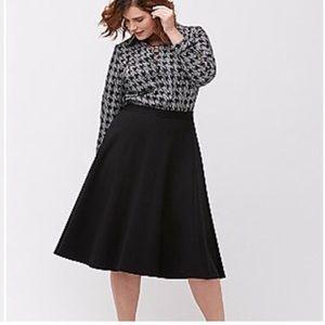 Lane Bryant black ponte circle skirt